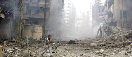 Store deler av Sør-Libanon ble lagt i ruiner under sommerens krig i Libanon. Foto: Scanpix/Ramzi Hadar
