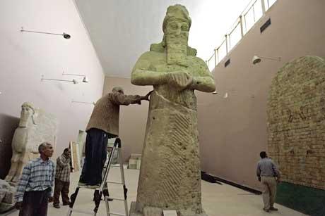 Arbeidet med å restaurere museet er godt i gang. Foto: Scanpix