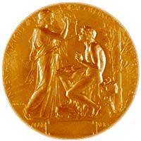 Nobelmedaljen for Litteratur er designet av Erik Lindberg.