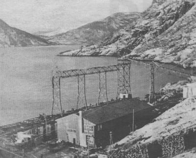 Frå anleggsarbeidet i 1942