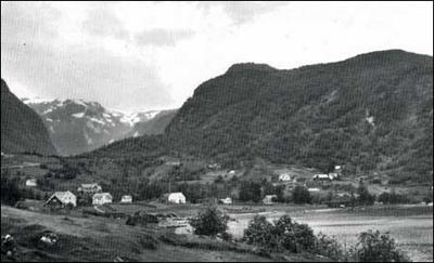Ortnevik på 1940-talet. Foto henta frå