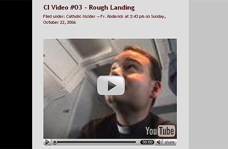 Fader Roderick i videosnutt på Catholic Insider.