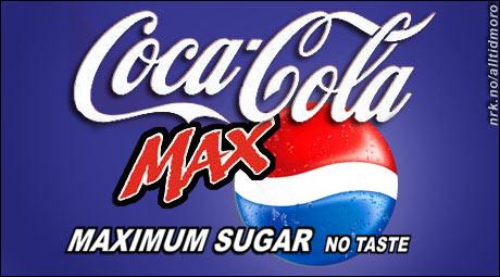 Coca Cola og Pepsi fusjonerer. (Innsendt av Herman Bunes)