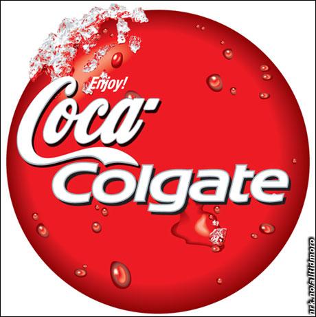 Coca-cola og Colgate fusjonerer. (Innsendt av Mads Erik Husdal)
