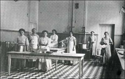 Frå kjøkkenet på Lyster Sanatorium.