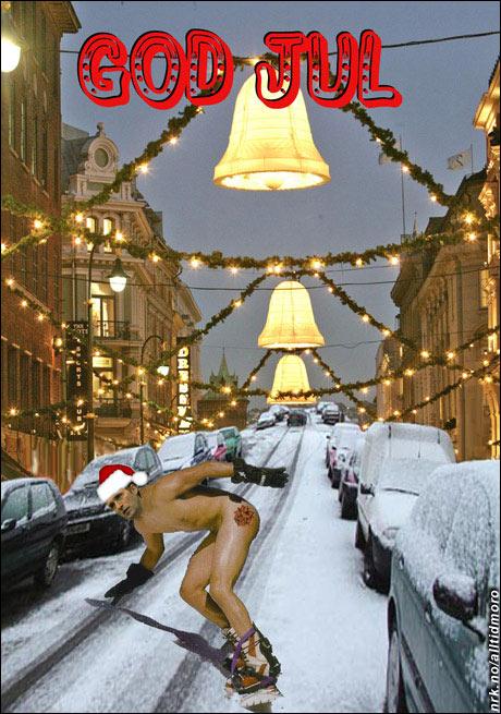 Kopier dette bildet og send det videre til dine venner. Det er årets julekort. (Innsendt av Mikkel Stølen)