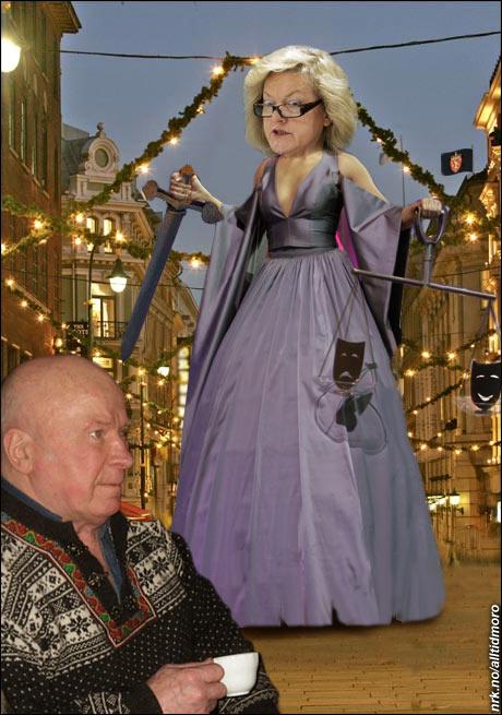 8. desember 2006: Janne Kristiansen, leder for den såkalte justismord-kommisjonen, begår justismord på Fredrik Fasting Torgersen i Oslo sentrum. (Alltid Moro)
