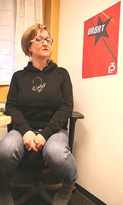 Man kommer ikke veldig langt ved å stjele andres musikk, sier Urørt-sjef Siri Narverud Moen. Foto: Stian Fjelldal, NRK P3.