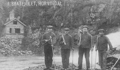 Kraftverket i Brattejølet under bygging i 1913. Foto: Rasmus S. Kirkhorn