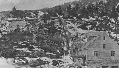 Kraftverket i Brulandsfossen stod ferdig i 1914. Foto: Olai Fauske