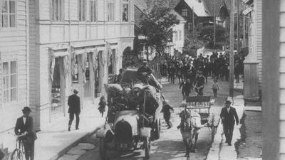 Eidsgata ca. 1920. Foto: Isak I. Hellebust © Fylkesarkivet