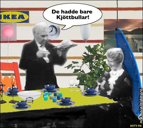 Grevinnen og hovmesteren på IKEA. (Innsendt av Jørund Hitland)