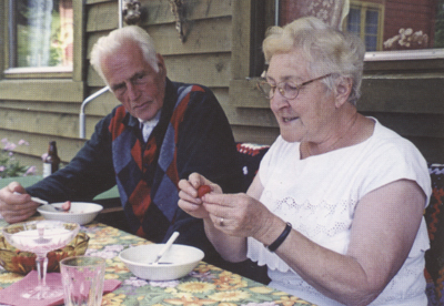Botolv Hov med kona Kjellaug