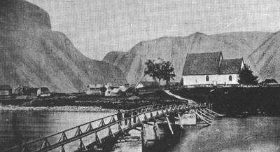 Vangen kyrkje rundt 1870
