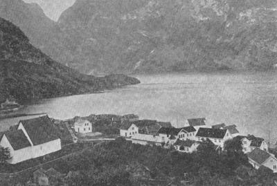 Vangen omlag 1880. Foto frå Aurland bygdebok