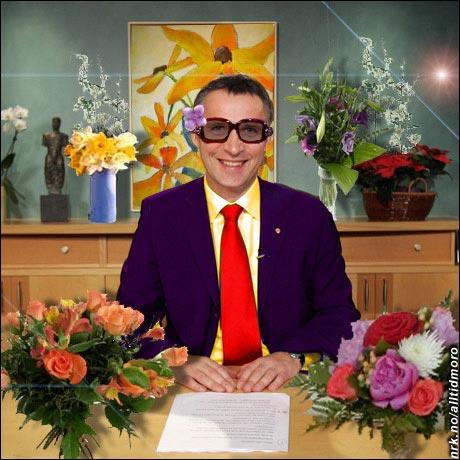 Blomster-Jens, etter å ha gått et lite kurs hos Finn Schjøll. (Innsendt av Siv Janette Berglund Larsen)