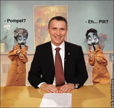 Jens Stoltenberg fikk nye rådgivere i løpet av fjoråret. Nyttårstalen bar preg av mye reparasjon... (Innsendt av Geir Hermansen)