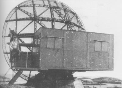 Radaren på Sandøy. Biletet er teke rett etter krigen. Foto frå fotosamlinga til Kystmuséet