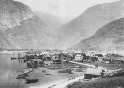 Lærdalsøyri ca. 1890