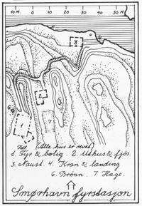 Kartskisse frå 1911, frå boka Norges fyr.