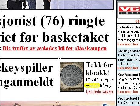 """VG 22/1 2007: Introduserer det nye ordet """"bristisk""""."""