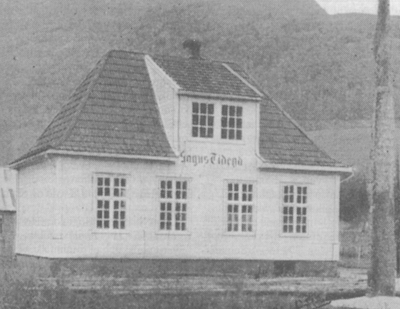Huset det Sogns Tiden heldt til i Sogndal. Foto frå Kjenn ditt land 1936
