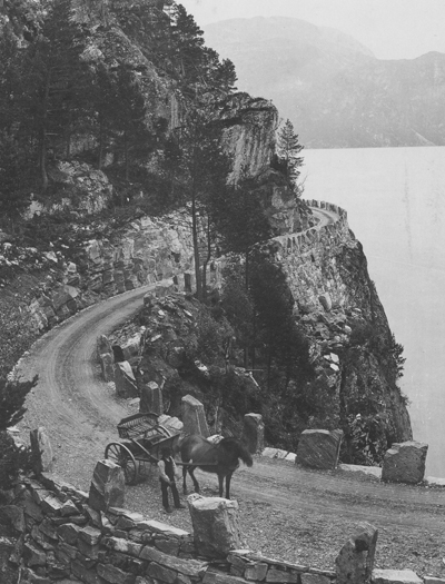 Vegen i Breimsfjellet på 1890-talet. Foto: K. Knudsen