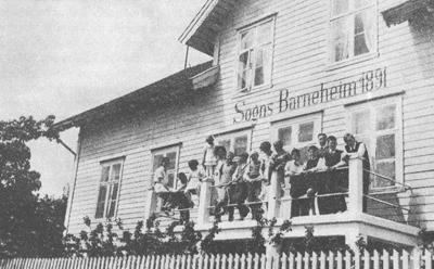 Sogns Barneheim på slutten av 1930-talet.