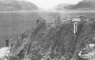 Bunker på Risenes. Foto: Kystartilleriet, frå boka