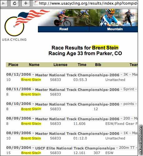 Denne amerikanske syklisten er ikke fullt så god som Lance Armstrong. Men han har et tøffere navn: Brent Stein.