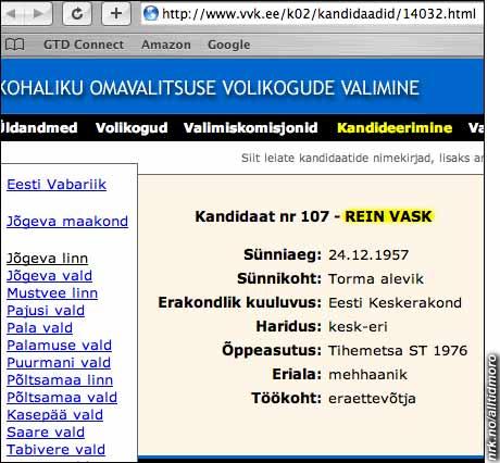 Hvitvasking av penger, eller bare et blenda-hvitt rulleblad? Denne estiske lokalpolitikeren heter Rein Vask.
