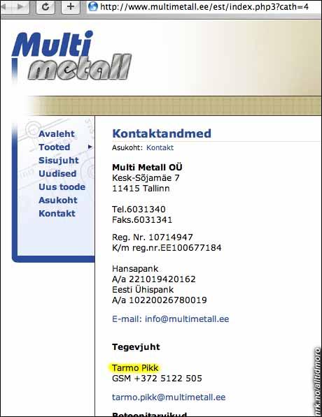 Det er tydeligvis tøffe tak i Estlands metallindustri.