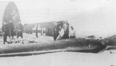 Flyet som styrta ved Grotli. Foto: Josef Auchtor
