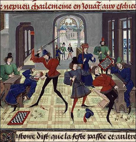 Fra arkivet: Politiet i Lillestrøm fortsetter sine aksjoner mot ulovlige spilleklubber. (Tekst: Rune H. Johansen Bilde: R. de Montauban, ca 1470)