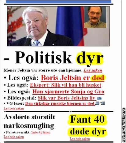 VG.no med en lettere grotesk sammenstilling. (Innsendt av Linda)