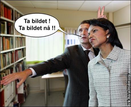 Jens lurer Condi. (Innsendt av Tor Raael, Nivlheim)