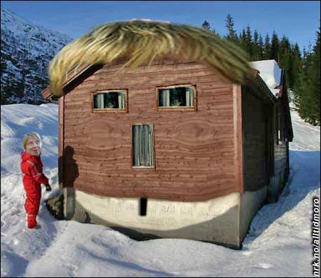 Min gamle hytte er Kurt-formet, sier Kurt Nilsen.