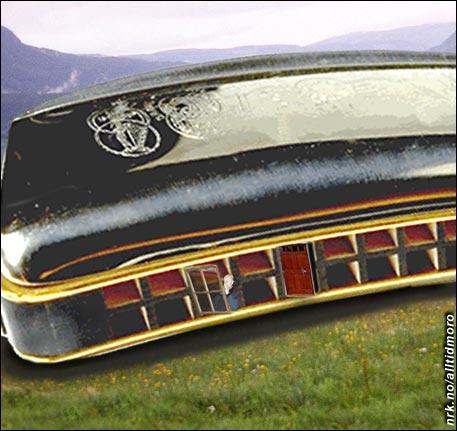 Sigmund Grovens hytte er formet som et munnspill.