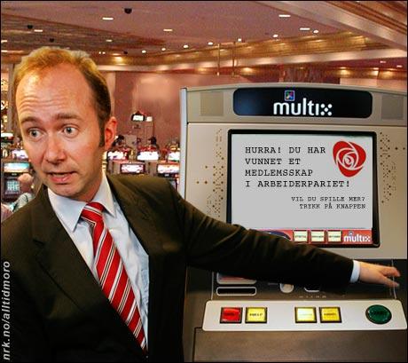 - De nye spilleautomatene skal ikke gi gevinster som er alt for forlokkende, sier Trond Giske. (Alltid Moro)