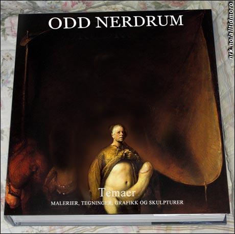 """Nerdum har malt en ny versjon av sitt omdiskuterte """"Selvportrett i gylden kjortel"""" (1998) til bokens forside. (innsendt av Rafael Duck / Alltid Moro)"""