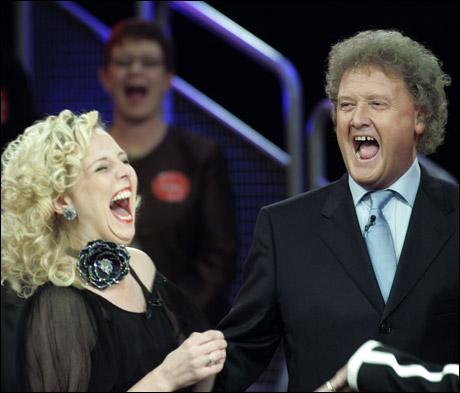 UKAS BILDETEKST: Lydklippet til denne sekvensen er fjernet, pga grusomt høy latter fra Dan Børge som kan sprenge høyttaleren. (Bjørnar Halvorsen) Foto: Scanpix