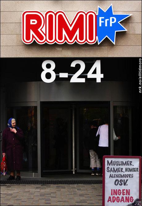 Det nye samarbeidet medfører strengere vakthold i butikkene. (Alltid Moro. Originalfoto: Scanpix)