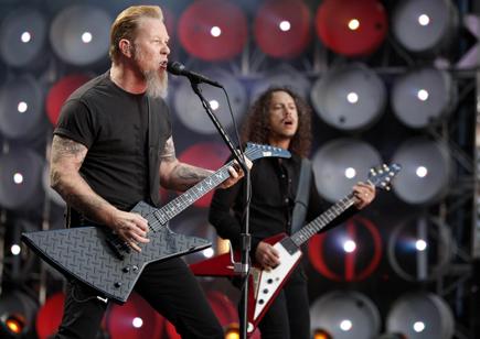 Inspirert av Metallica? Eller noen andre? Vis det på profilen din! Foto/Copyright: REUTERS/Stephen Hird (BRITAIN)