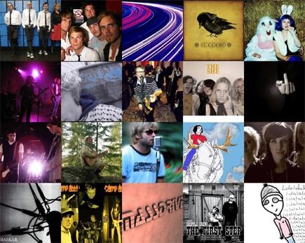 Her er noen bandene og artistene som ble spilt på radio nylig.