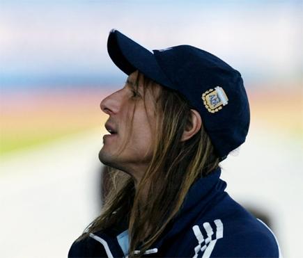 Claudio Caniggia. Fotballspiller eller rocker? Foto/Copyright: Scanpix/AP
