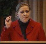 Nestleder Siv Jensen reagerte kraftig på uttalelsen om voldtekt (foto: NRK).