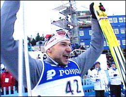 Andrus Veerpalu slo Frode Estil med åtte tideler på 30 km i VM Lahti i 2001.