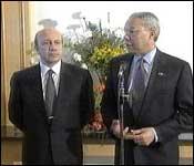 Colin Powell og Igor Ivanov i Kairo