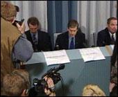 Pressekonferansen i Finland