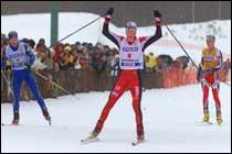 Kristian Hammer gikk styggfort i sporet, men etter dårlig klaff i bakken.
